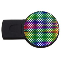 Digital Polka Dots Patterned Background USB Flash Drive Round (4 GB)