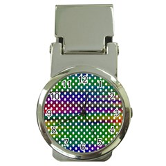 Digital Polka Dots Patterned Background Money Clip Watches