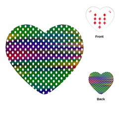 Digital Polka Dots Patterned Background Playing Cards (Heart)