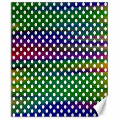 Digital Polka Dots Patterned Background Canvas 8  x 10