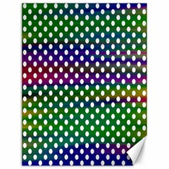 Digital Polka Dots Patterned Background Canvas 12  x 16