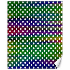 Digital Polka Dots Patterned Background Canvas 16  x 20