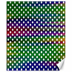 Digital Polka Dots Patterned Background Canvas 20  x 24