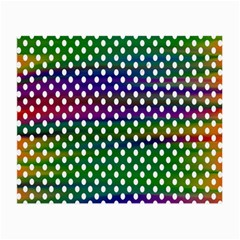 Digital Polka Dots Patterned Background Small Glasses Cloth (2 Side)