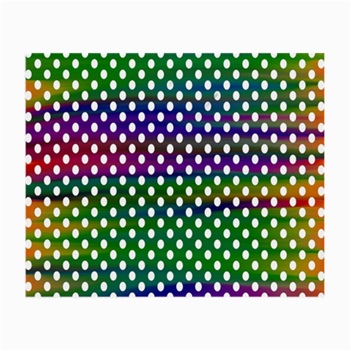 Digital Polka Dots Patterned Background Small Glasses Cloth (2-Side)