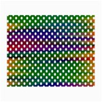 Digital Polka Dots Patterned Background Small Glasses Cloth (2-Side) Back