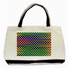 Digital Polka Dots Patterned Background Basic Tote Bag (Two Sides)