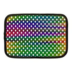 Digital Polka Dots Patterned Background Netbook Case (medium)