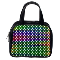 Digital Polka Dots Patterned Background Classic Handbags (one Side)