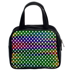 Digital Polka Dots Patterned Background Classic Handbags (2 Sides)