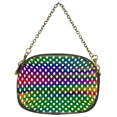 Digital Polka Dots Patterned Background Chain Purses (one Side)