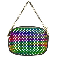 Digital Polka Dots Patterned Background Chain Purses (two Sides)