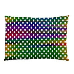 Digital Polka Dots Patterned Background Pillow Case