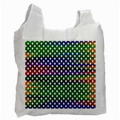 Digital Polka Dots Patterned Background Recycle Bag (Two Side)