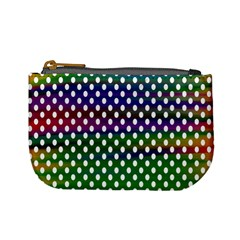 Digital Polka Dots Patterned Background Mini Coin Purses