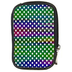 Digital Polka Dots Patterned Background Compact Camera Cases