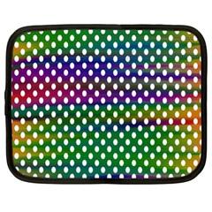 Digital Polka Dots Patterned Background Netbook Case (xl)