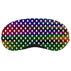 Digital Polka Dots Patterned Background Sleeping Masks