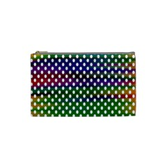 Digital Polka Dots Patterned Background Cosmetic Bag (Small)