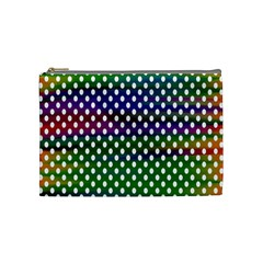 Digital Polka Dots Patterned Background Cosmetic Bag (Medium)