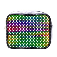 Digital Polka Dots Patterned Background Mini Toiletries Bags