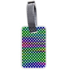 Digital Polka Dots Patterned Background Luggage Tags (Two Sides)