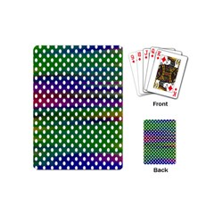 Digital Polka Dots Patterned Background Playing Cards (Mini)