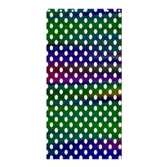 Digital Polka Dots Patterned Background Shower Curtain 36  x 72  (Stall)