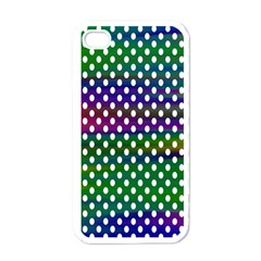 Digital Polka Dots Patterned Background Apple Iphone 4 Case (white)