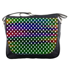 Digital Polka Dots Patterned Background Messenger Bags