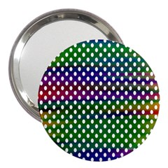 Digital Polka Dots Patterned Background 3  Handbag Mirrors