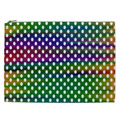 Digital Polka Dots Patterned Background Cosmetic Bag (XXL)
