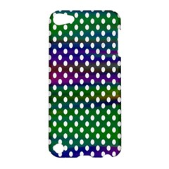 Digital Polka Dots Patterned Background Apple Ipod Touch 5 Hardshell Case