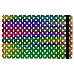 Digital Polka Dots Patterned Background Apple Ipad 2 Flip Case