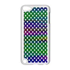 Digital Polka Dots Patterned Background Apple iPod Touch 5 Case (White)