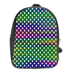 Digital Polka Dots Patterned Background School Bags (XL)