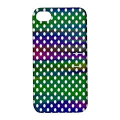 Digital Polka Dots Patterned Background Apple iPhone 4/4S Hardshell Case with Stand