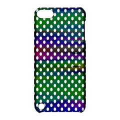Digital Polka Dots Patterned Background Apple iPod Touch 5 Hardshell Case with Stand
