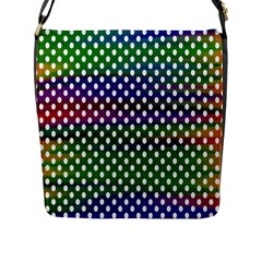 Digital Polka Dots Patterned Background Flap Messenger Bag (l)