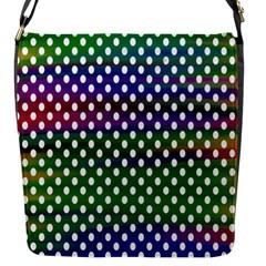Digital Polka Dots Patterned Background Flap Messenger Bag (S)
