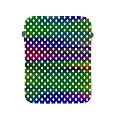 Digital Polka Dots Patterned Background Apple iPad 2/3/4 Protective Soft Cases