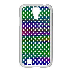 Digital Polka Dots Patterned Background Samsung GALAXY S4 I9500/ I9505 Case (White)