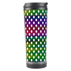 Digital Polka Dots Patterned Background Travel Tumbler