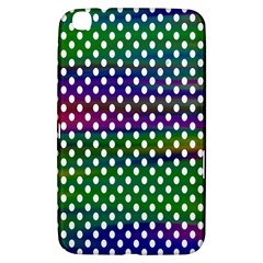 Digital Polka Dots Patterned Background Samsung Galaxy Tab 3 (8 ) T3100 Hardshell Case