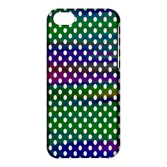 Digital Polka Dots Patterned Background Apple iPhone 5C Hardshell Case