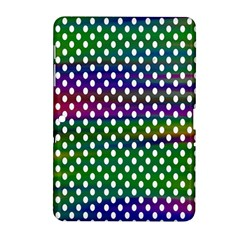 Digital Polka Dots Patterned Background Samsung Galaxy Tab 2 (10 1 ) P5100 Hardshell Case