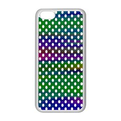 Digital Polka Dots Patterned Background Apple iPhone 5C Seamless Case (White)