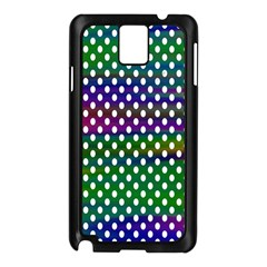 Digital Polka Dots Patterned Background Samsung Galaxy Note 3 N9005 Case (black)