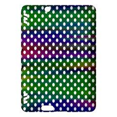 Digital Polka Dots Patterned Background Kindle Fire HDX Hardshell Case