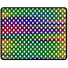 Digital Polka Dots Patterned Background Double Sided Fleece Blanket (medium)